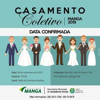 CONFIRMADA A DATA DO CASAMENTO COLETIVO EM MANGA
