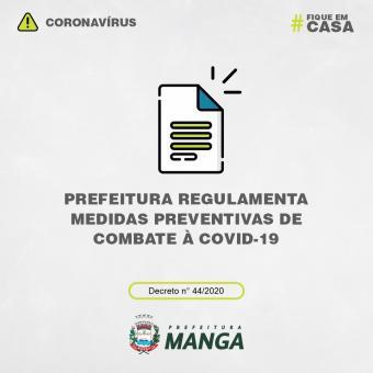PREFEITURA REGULAMENTA MEDIDAS PREVENTIVAS DE COMBATE À COVID-19