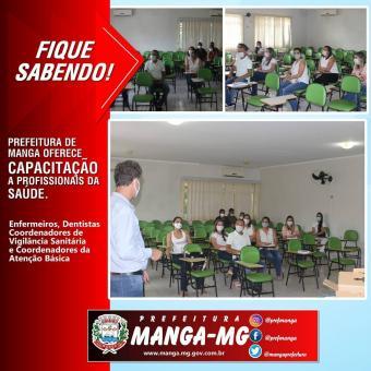 PREFEITURA DE MANGA OFERECE CAPACITAÇÃO A PROFISSIONAIS DA SAÚDE