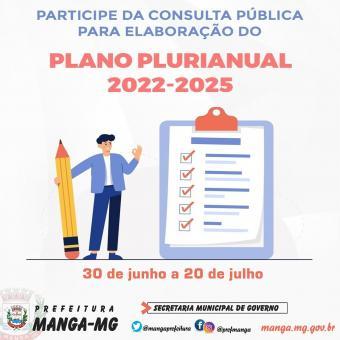 ELABORAÇÃO DO PLANO PLURIANUAL (PPA) – QUADRIÊNIO 2022/2025