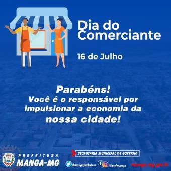 16 DE JULHO - DIA DO COMERCIANTE! 🛒