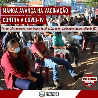 MANGA AVANÇA NA VACINAÇÃO CONTRA A COVID-19